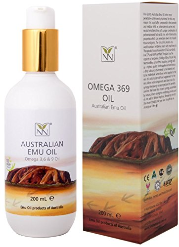 Extra Large Emu Oil | 100% Pure Australian Emu Oil - 6.8 oz Bottle | Luxury, Hospital Grade - The Ultimate Moisturizer for Skin, Hair, Nails, and Scalp - 300% More Oil!