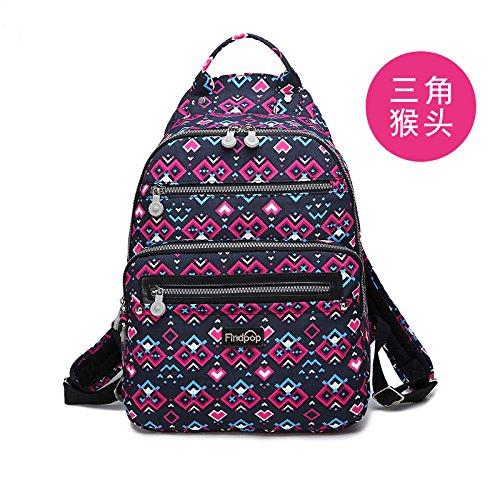 Zazero Fashion Bag - Mochila de Lona para Mujer, Bark Grain Trigonum erinaceus