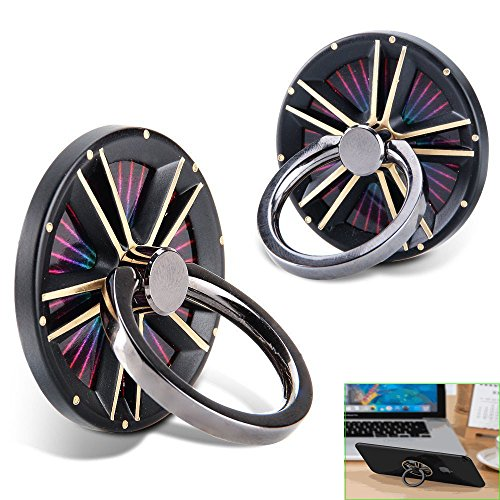 Phone Ring Holder 360 Degree Rotating Finger Spinner Metal Phone Ring Grip Kickstand, Universal Smartphone for iPhone X 8 7 6 5 Plus Samsung Galaxy S6 S7, Note, LG