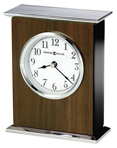 Chrome Plated Desk Clock - Howard Miller 645807 Verona Table Clock, Special Reserve