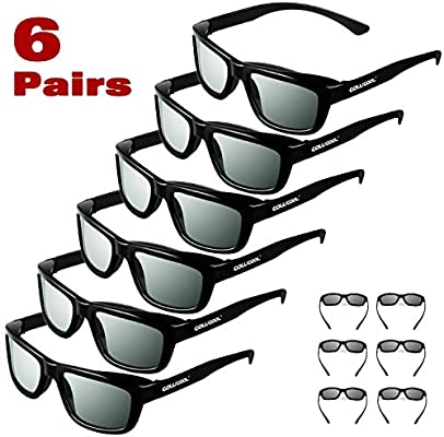 bc2166854c Cowcool 6 Pack CINEMA 3D GLASSES For all passive polarized 3D monitors