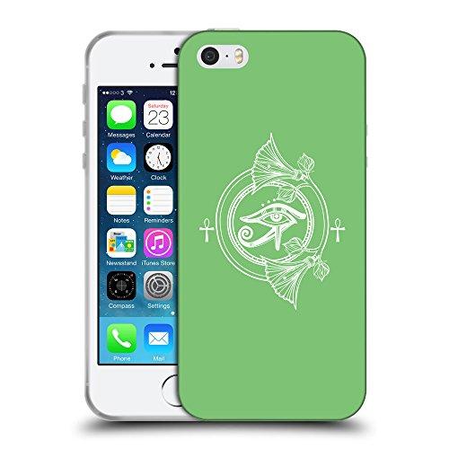 GoGoMobile Coque de Protection TPU Silicone Case pour // Q09880629 Religion 28 Pastel Vert // Apple iPhone 5 5S 5G SE
