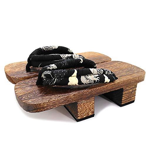Homme Sandale Blanc Pantoufles Chnhira Pantoufle Japonaise Cosplay Tong Noir Japonais Bois Femme Jeune Sabots Sandales Épais Et Geta Fond Pour À C5BwBqdg