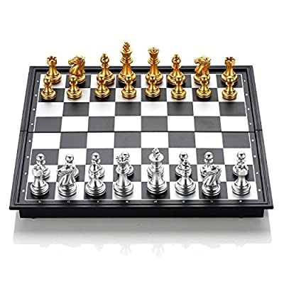 Pasuk2788 New Magnetic Travel Chess Set Portable Board Game Toy Pieces With St