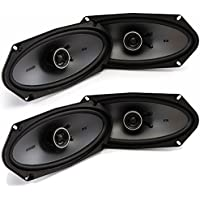 Kicker Speaker Bundle - Two pairs of Kicker 4x10 Inch KS-Series Speakers 41KSC4104