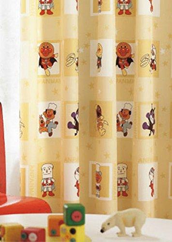 東リ アンパンマンとゆかいな仲間たちがダンス フラットカーテン1.3倍ヒダ KSA60065 幅:200cm ×丈:260cm (2枚組)オーダーカーテン   B077TBPGX3