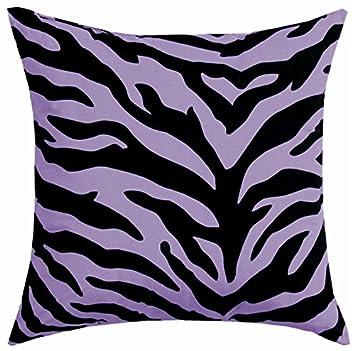 Karin Maki Zebra Square Pillow, Lavender