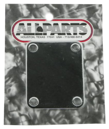 010 Ap - All Parts AP 0600-010 Guitar or Bass 4 Hole Chrome Neck Plate