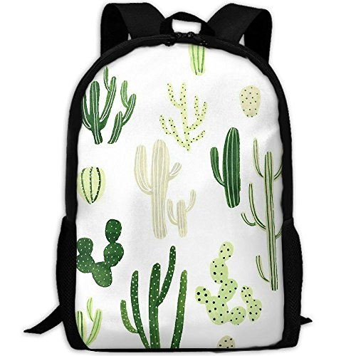 Green Cactus Backpack Briefcase Laptop Travel Hiking School Bags Stylish Daypacks Shoulder - Columbus In Mall
