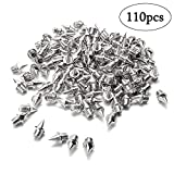 Augsun 110 Pieces 1/4 Inch Stainless Steel Track and Cross Country Spikes Replacement Shoe Track Spikes,Silver
