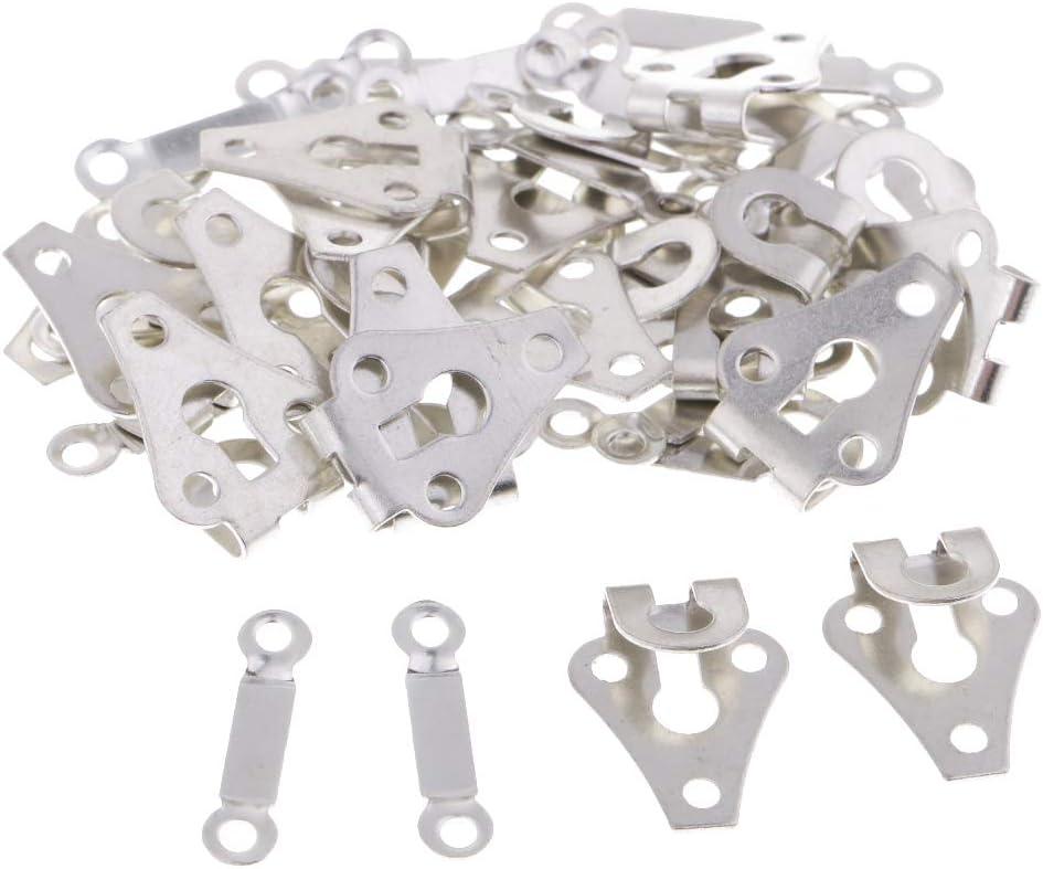 Schwarz 20 Sets Metall Haken und /Öse Bar Verschluss Hosenhaken f/ür Hose und Rucksack Handwerk