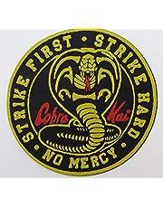 Shihan COBRA KAI ściereczka odznaka naszywka - Karate Kid No Mercy strike first strike hard 9,5 cm okrągła odznaka