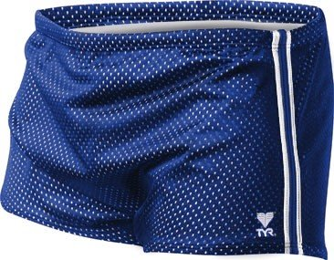 TYR SPMT2A Mens Poly Mesh Trainer, Navy/Green/Blue - 40 (Resistance Short Tyr)