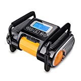 Digital Car Tire Inflator Pump With Gauge, Napoer 12V DC Portable Air Compressor Pump ,Auto Shut Off Air Pump for Car, Bicycle, Basketballs, RV and Other Inflatables,with Cigarette Lighter Charger