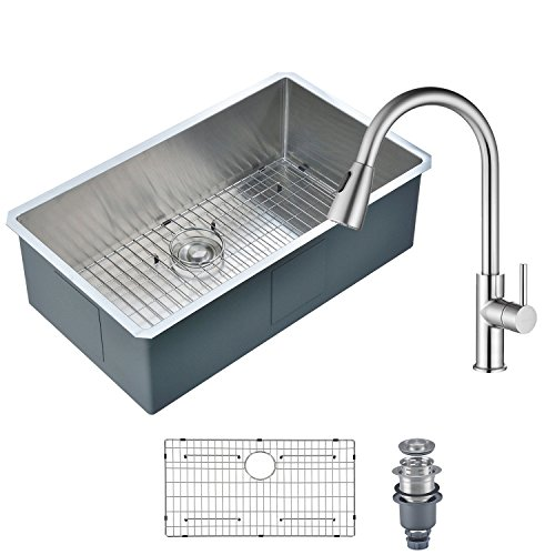 Round Stone Guard - MOWA HCM3018 Kitchen Sink and Faucet Combo, 30
