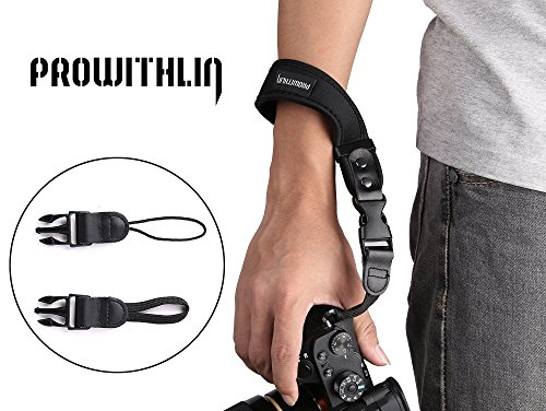 Camera Wrist Strap-PROWITHLIN Universal Neoprene Camera Wrist Strap Hand Strap for DSLR / SLR Canon Sony Fuji etc by PROWITHLIN