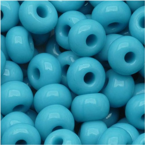 (Czech Seed Beads 6/0 Blue Turquoise Opaque (1 Ounce))