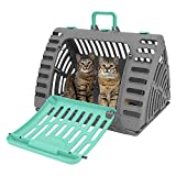 SportPet Designs X-Large Foldable Travel Cat Carrier - Front Door Plastic Collapsible Carrier