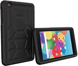 Poetic At&T Trek 2 Hd Case - Rugged Protective Silicone Case [Corner/Bumper Protection][Grip][Sound-Amplification][Bottom Air Vents] (2016) - Black