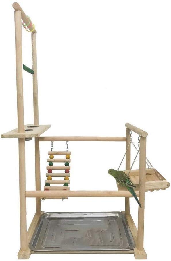 P/ájaro Parque infantil Perca Gigante Ave pie Escalera Oscilaci/ón del loro de madera maciza de Formaci/ón varilla soporte grande del loro Escalera de oscilaci/ón de juguetes peque/ños p/ájaros Animales