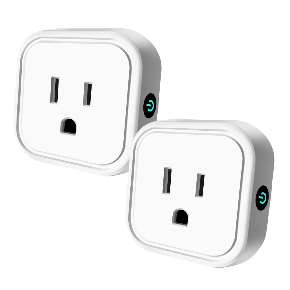 Wifi Smart Plug Mini Outlet Compatible with Alexa & Google Home, HEYGO Wireless Timer Socket, Remote Control By Smart Phone from Anywhere (2 Pack)