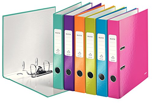 Leitz Wow 1006 A4 50 mm Lever Arch File - Assorted Colours, Pack of 10,10061099 ()