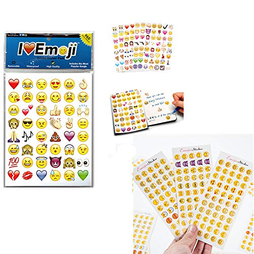 Emoji Jumbo Stickers | 960 Most Popular Emoticons | Larger In Size | Cool, Educational and Fun