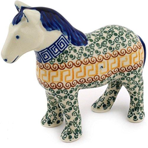 Polish Pottery Horse Figurine 6-inch Mediterranean Sea ()