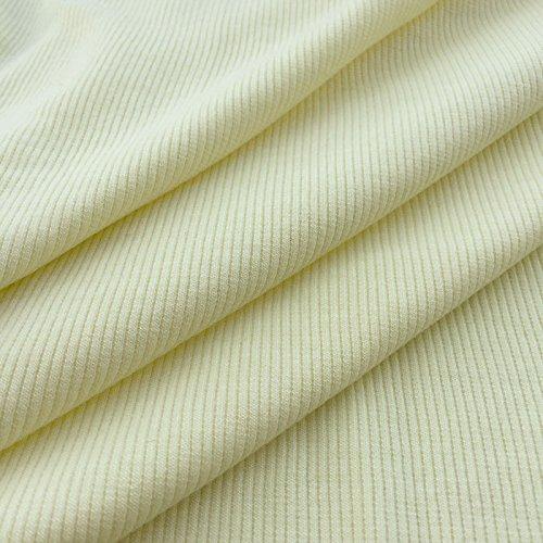 USA Made Premium Quality 2x1 Rib Knit Fabric by the Yard - Silk - 1 Yard - Silk Jersey Fabric Knit