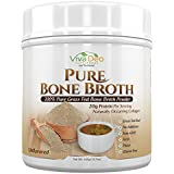 Grass Fed Bone Broth Protein Powder | Antibiotic & Hormone Free | Tasteless Keto Diet Paleo Protein Powder w/Naturally Occurring Collagen Glucosamine & 19 Amino Acids – 20 Grams Protein (Unflavored)