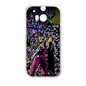 Coldplay HTC One M8 Cell Phone Case White J1720018