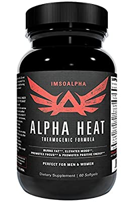 IM SO ALPHA | ALPHA HEAT | Thermogenic Fat Burner for Increased Energy and Fat Shredding | 60 Capsules