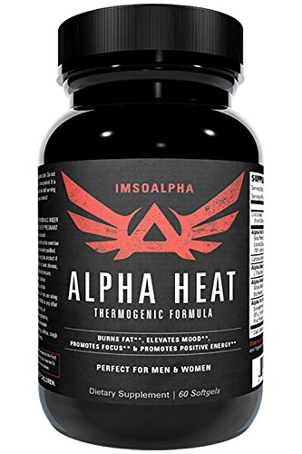 IMSOALPHA | ALPHA HEAT | Thermogenic Fat Burner for Increased Energy and Fat Shredding | 60 Capsules by IMSOALPHA