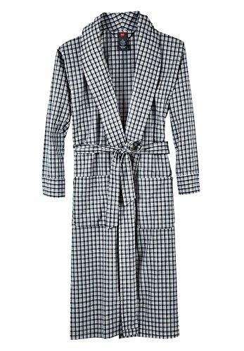 - Hanes Men's Big & Tall Black Woven Shawl Collar Robe (7X-8X Plus, Black Plaid)
