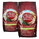 (2 Bags) Purina ONE SmartBlend Dry Dog Food, True Instinct, Grain Fee Formula, Chicken & Sweet Potato, 3-Pounds per Bag For Sale