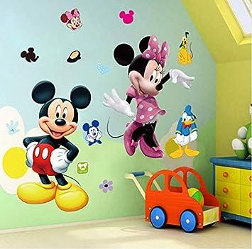 Likeai Mickey Mouse Minnie Vinyl Wandbild Wandaufkleber Abziehbilder ...