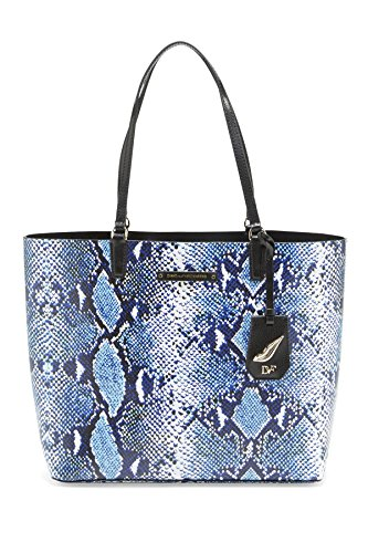 Diane von Furstenberg Women's Heritage Print Ready To Go Tote, Python Medium Blue, One Size