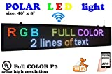 WiFi P5 high Resolution LED RGB Color Sign 40' x 8' with New SMD Technology. 192x32 Pixels, Perfect Solution for Advertising