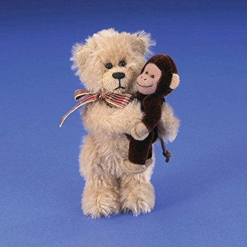 Boyds Mohair Bear with Monkey by Enesco