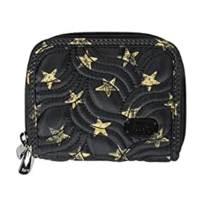 Lug Women's Splits Compact Wallet, Rockstar Black, Rock Star