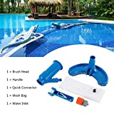 """Swimming Pool Cleaning Tool Professional Pond Jet Vacuum Brush Pool-Connects to Standard 1-1/2"""" Vacuum Hose and 1-1/4"""" Poles for Cleaning Corners, Steps, Stairs, Swimming Pools, etc."""