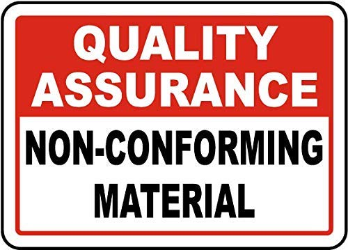(TAN550 Non-Conforming Material Sign, Metal Wanring Signs Private Property,Danger Safety Sign Plaque,Gate Sign,8