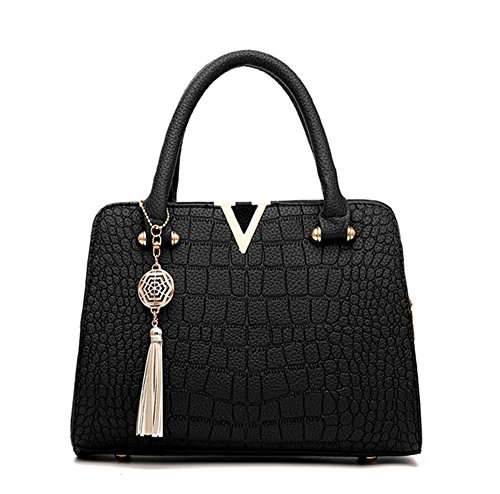 Tote Bag Vincenza Handle Bags Shoulder Black Leather Designer Womens Handbag Top PU Purse UK Womens wqrvBw7
