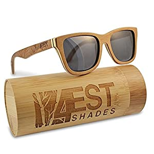 Wood Sunglasses made from Maple/Cherry-100% polarized lenses in a wayfarer that floats!