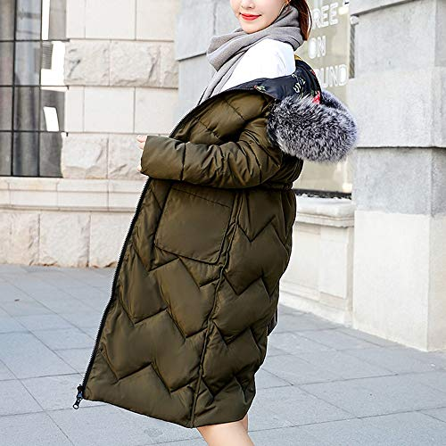 Mid Down CUTUDE Covered Women Jacket Winter Cotton Faced Length Ladies Autumn Army Coats Slim Two Green for pwwqKrBOY