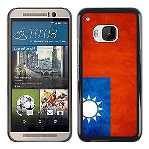 Be Good Phone Accessory // Dura Cáscara cubierta Protectora Caso Carcasa Funda de Protección para HTC One M9 // National Flag Nation Country Taiwan