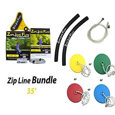 ZIPLINE FUN Zip Line ZL35 Bundle 35 Foot: Toys & Games