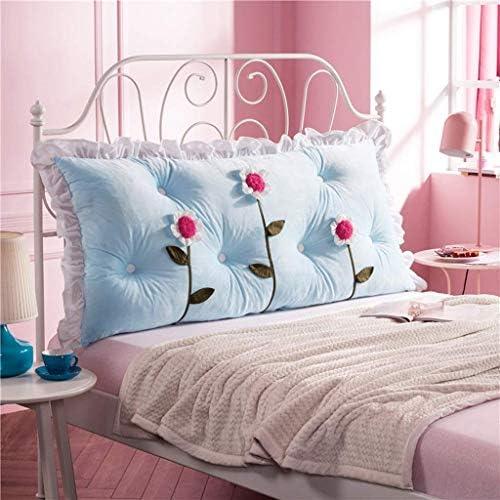 ベッド枕、ソフトバッグ、ダブル背もたれ、デスク用サイズの位置決め枕、洗濯機、4色、3サイズ(色:青、サイズ:120 * 70cm)