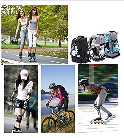 Amazon.com : HETHRONE Roller Skates Shoes Backpack Professional Storage Bag Ice Skating Bag for Both Children and Adult : Sports & Outdoors