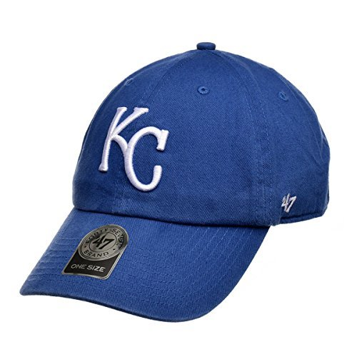 Baseball Mlb Hat - Kansas City Royals Clean Up Adjustable Cap (Blue)